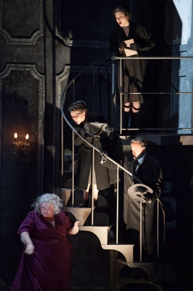 <em>(The Medium)</em>: from top: Kelsey Lauritano (Mrs Nolan), Barbara Zechmeister & Dietrich Volle (Mrs & Mrs Gobineau) & Meredith Arwady (Madame Flora)